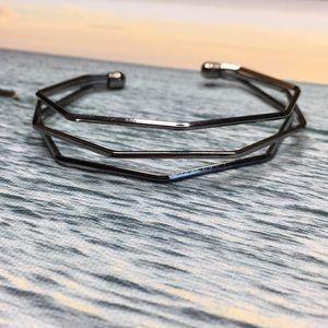 Gunmetal Geometric Bracelet